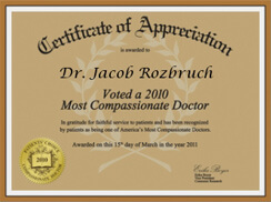Most Compassionate Doctor 2010