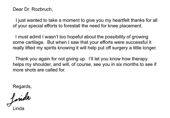 NYC Orthopedist Testimonial For Jacob D. Rozbruch, MD