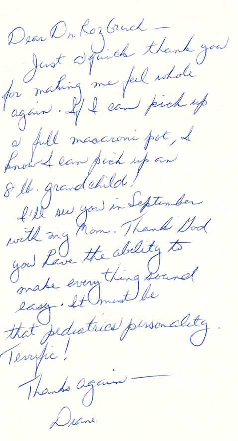 Testimonial For Orthopedist Dr. Jacob D. Rozbruch