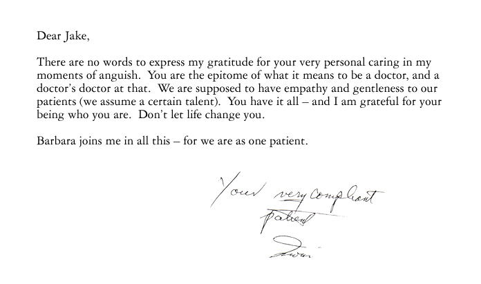 Testimonial For NYC Orthopedist Jacob Rozbruch, MD