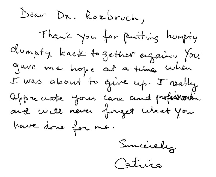 Dr. Rozbruch Patient Testimonial