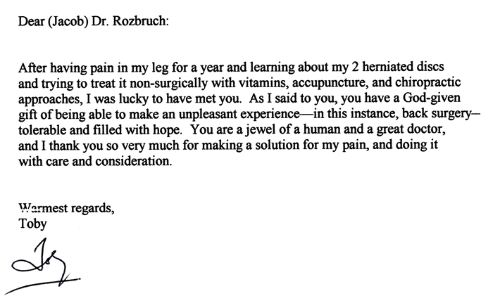 Review For NYC Orthopedist Dr. Jacob D. Rozbruch
