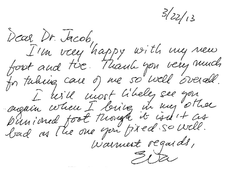 Testimonial For Jacob Rozbruch, MD